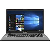 """ASUS Vivobook N705UD-GC129T PC Portable 17,3"""" Full HD Gris (Intel Core i7, 8 Go de RAM, Disque Dur 1 to + SSD 128 Go, Nvidia GeForce GTX 1050 2G, Windows 10) Clavier Français AZERTY"""