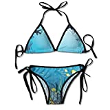 Photo de Triangle Bathing Two Pieces Women's Tie Side Triangle Bikini Swimsuits Topical Underwater Cave Fishes Swimming Marine Coral Reefs Exotic Aquatic Beauty Image Bikini Sets Beach Swimwear Bathing Suit par HAMANY