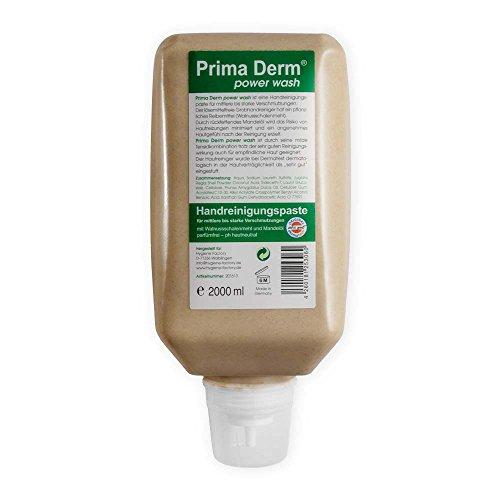 6x Hautreinigung Prima Derm power wash, Hautreiniger, Flüssigseife, ohne Parabene und Parfüm, 2.000 ml Softflasche (Flüssigseife Wash)