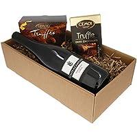 """Geschenkset """"Gaumenfreude"""" Schokolade und Wein und Schokolade (1 x 0.75 l)"""