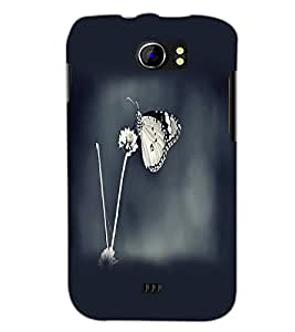 PrintDhaba Butterfly D-2361 Back Case Cover for MICROMAX A110Q CANVAS 2 PLUS (Multi-Coloured)
