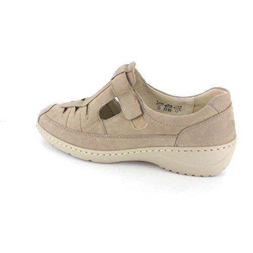 Waldläufer , Chaussures de ville à lacets pour femme Beige