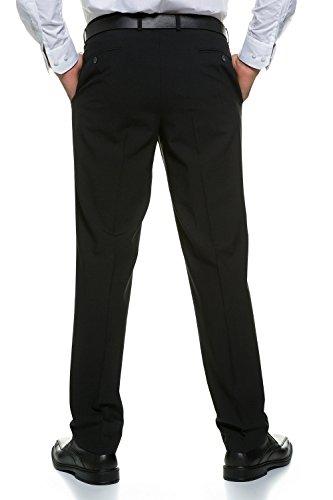 JP 1880 Herren große Größen bis 70 | Business-Hose | Flatfront Hose in schwarz & blau | Schnurwoll-Qualität | Knitterfrei, elastisch & pflegeleicht | Regular Fit | schwarz 70 705533 10-70 (Wolle Herren Schwarz Suit)
