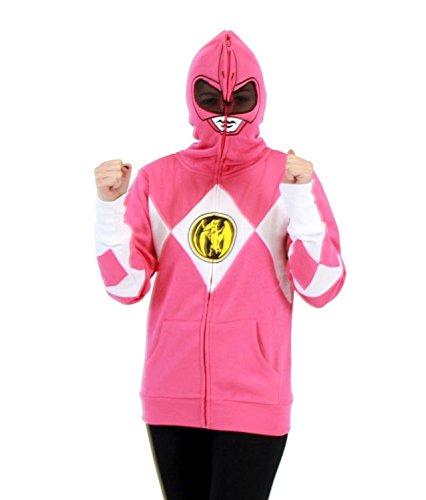 Power Rangers I Am Pink Ranger Full Zip Costume Hoodie Sweatshirt (Adult (Hoodie Power Rangers)