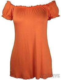 Damen plus Größe ab Schulter Zigeuner langen Oberteilen stretch Sommer boho tops