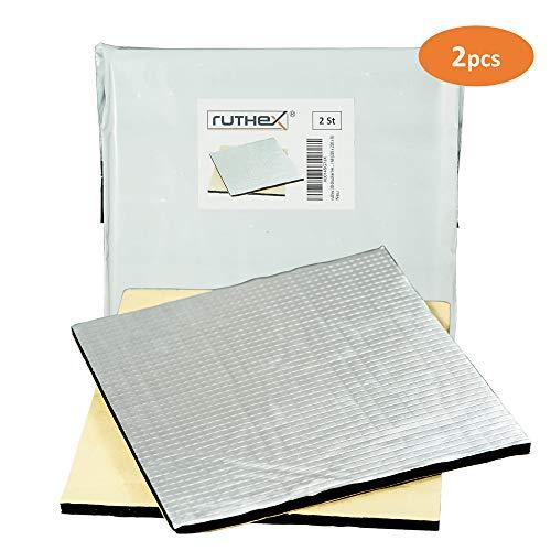 ruthex 3D-Drucker Heizbett Isolierung 220x220 [2 Stück] selbstklebende Wärmeschutzmatte | reduzierte Aufheizzeit | reduzierter Stromverbrauch | für z.B. Anycubic i3 Mega | Creality Ender 3 | Anet A8