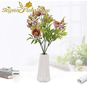 VHJVB Flor Artificial Begonia Flor Boda Flores Decoración del hogar Oficina Ventana Fiesta Decoración de la Boda Flor de…