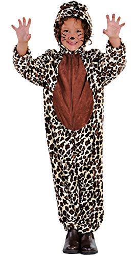 M212025-104-A Kinder Leopard Leoparden Kostüm Panter Overall Gr.104