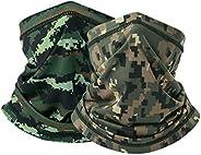 Cooling Camo Bandana Face Mask - Seamless Face Shield Sun UV Protection Neck Cover Face Scarf (AX-K-(09+10))