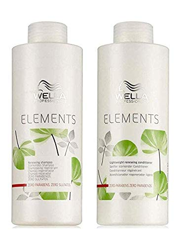 Wella Elements Organic Renewing Shampoo + Lightweight Renewing Conditi