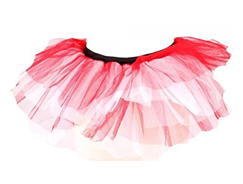 Phaze Damen Petticoat Rock One size Rot / Weiß