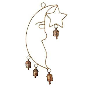 Moon Star Copper Bell Hanging