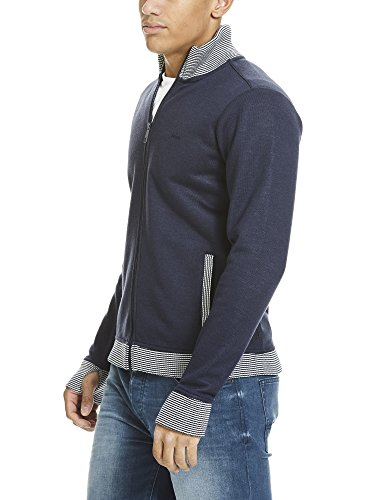 Bench Herren Sweatjacke Bonded Funnel Blau (Total Eclipse Marl MA1028)