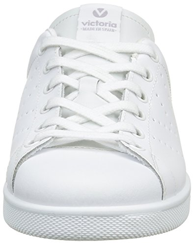 Victoria Deportivo Basket Piel, Sneakers Basses mixte adulte Blanc (Blanco)