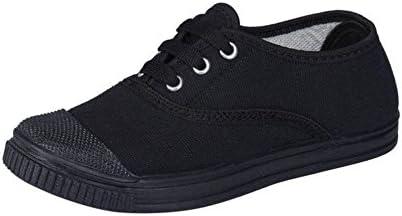 Pollo Boys Tennis Black School Shoe