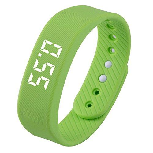 Fly Ältere Kinder 3D Schrittzähler Multifunktions Laufuhr Gehen Zähler Laufen Smart Schrittzähler Millionen Schritt Smartwatch (Color : Green)
