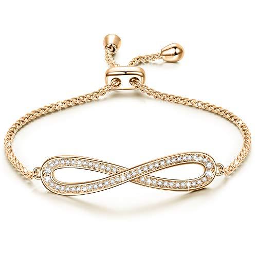 Susan Y Geschenk für Frauen Weihnachtgeschenke Armband Damen Swarovski Kristallen Armband Schmuck Geschenke zum Mutter Sie Mädchen 18 Geburtstaggeschenk Geschenk für Freundin Mama Beste Freundin
