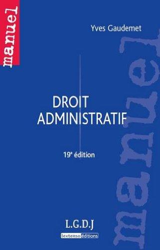 Droit administratif par Yves Gaudemet