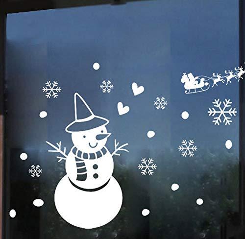 Weihnachten Schneemann Schneeflocke Vinyl Wandaufkleber Abziehbilder Fenster Dekor White Christmas Ornaments (Wc Christmas Ornament)