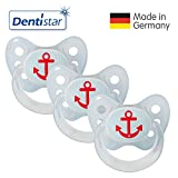 Dentistar Latex Schnuller 3er Set - Nuckel Größe...
