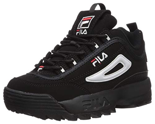 Fila Youth Disruptor II Synthetic Black White Red
