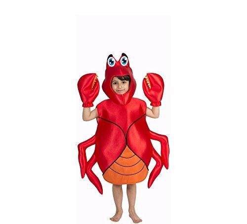 NINES D'ONIL EXPORT, SL Krabbe Deluxe Kostüm für Kinder T-1 (3/5 Jahre) (Nine D's Kostüm)