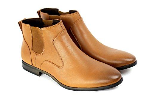 hommes décontracté Chelsea élégant Bottine Italian Chaussures Habillées Taille 6 7 8 9 10 45 NEUF Marron