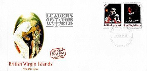 Primo Giorno Stamp Cover - Michael Jackson I leader del mondo MNH Coppia di non emessi Stamps / British Virgin Islands /