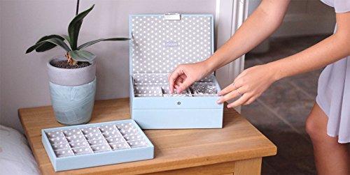 Stackers-classic-size-caja-de-la-joyera-organizador-con-25-secciones-para-el-pendientes-y-encantos-polca-azul-y-gris-forro-de-algodn-de-punto
