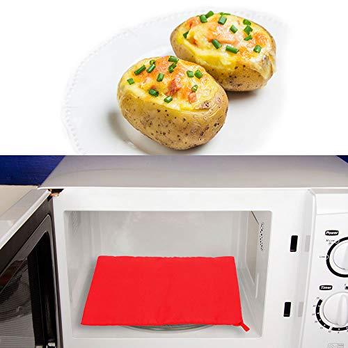 NNMNBV Waschbare Kochtasche, schnell und schnell gebackene Kartoffeln, Reistasche, einfach zu Kochen, Dampftasche, Mikrowellen-Backkartoffelbeutel