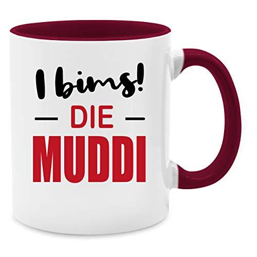 Tasse für Mama - I bims! Die Muddi - Unisize - Bordeauxrot - Q9061 - Kaffee-Tasse inkl. Geschenk-Verpackung