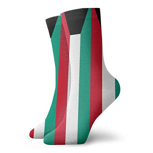 Originality Kuwait Flag Crew Socks Funny Novelty Thin Casual Sport Comfort Work 11.8