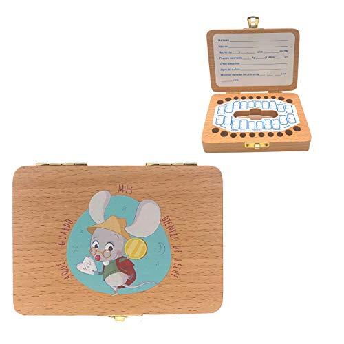 Caja de madera para guardar los dientes de leche El Ratoncito Pérez