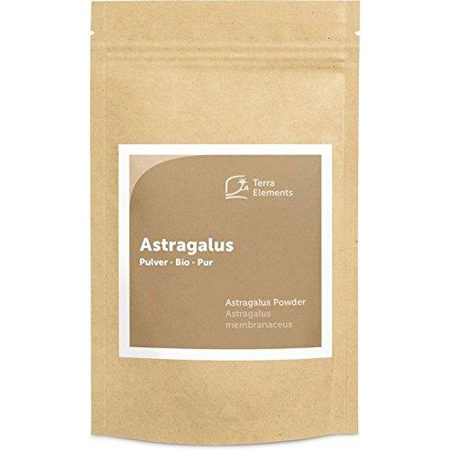 Terra Elements Bio Astragalus Pulver 100 g I Tragant I 100% rein I Vegan I Rohkost - Chinesischen Astragalus-wurzel-extrakt