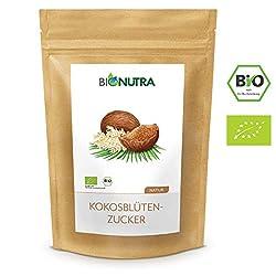 BioNutra® Kokosblütenzucker Bio 1000 g braun, Kokoszucker, nicht raffiniert, natürlicher Blütenzucker aus kontrolliert biologischem Anbau.