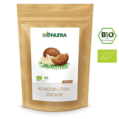 BioNutra® Kokosblütenzucker Bio 1500 g, Kokoszucker, nicht raffiniert, natürlicher Blütenzucker aus kontrolliert biologischem Anbau.