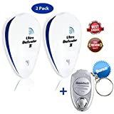 Ultrasonic Pest Repeller, 2 Pack Electronic Plug In, Plus Free Personal Mobile Device