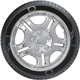 Oshotto Premium OSHO-WC48C 13-inch Black Chrome Finish Universal Fitting-Push Type Car Wheel Cover (Set of 4)
