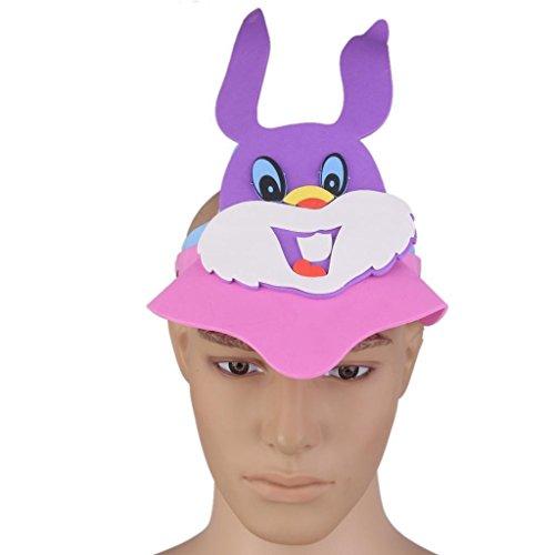 ELECTROPRIME® Purple Rabbit EVA Foam Hat Animal Face Hat Kids Childrens Birthday Party Toy
