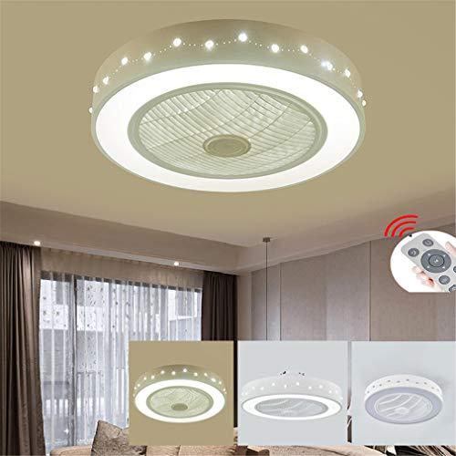 ZLQ Deckenventilator Mit Beleuchtung, Moderne Dimmbar LED Ventilator Deckenleuchte Mit Fernbedienung Einstellbare Windgeschwindigkeit Deckenlampe Für Kinder Schlafzimmer Esszimmer