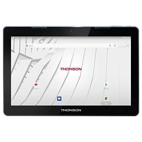 Thomson Tablette Tactile TEO13P-RK2BK32 - Noir - 13,3'' Aluminium - Ecran Full HD IPS - 2 Go de RAM - 32 Go de Stockage - Android 8.1 - Autonomie : jusqu'à 10h