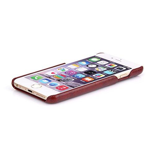 Wormcase Handytasche für das i-Phone 6 - 6S - Lederhülle - KARTENFACH - Farbe Grau - Zubehör Case Ledertasche Handyhülle Etui Flip-Case Backcover Schutzhuelle Braun