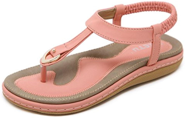 AIKAKA Femmes Chaussures Printemps Été s Grand Étudiant Studded  s Été PlatesB07F1D7KNDParent ad0045