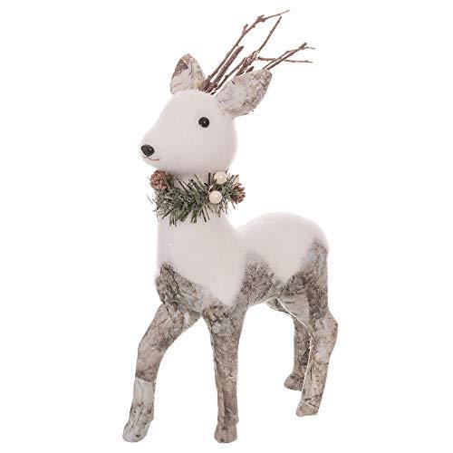 Figura de Ciervo Blanca de Foam rústica de Navidad Christmas - LOLAhome