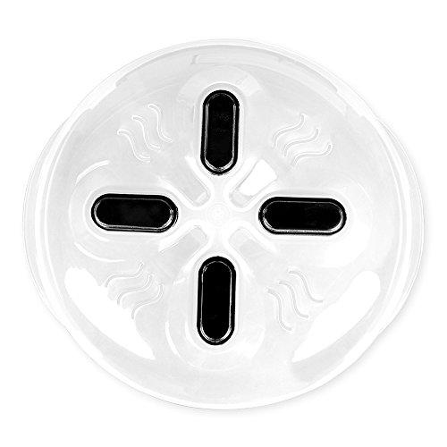 Couvercles pour Micro-ondes Plastique Anti-éclaboussures Couvre Assiette Polypropylène Transparent Grande 30 cm