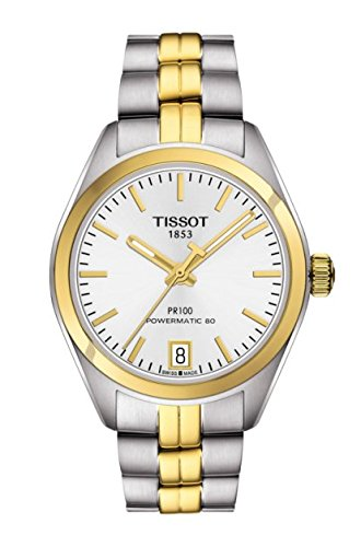 Tissot PR 100automático plata Dial Damas Reloj t101.207.22.031.00