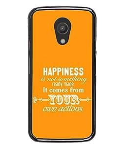 Fuson Designer Back Case Cover for Motorola Moto G2 :: Motorola Moto G (2nd Gen) (Happy Life Actions Motivational )