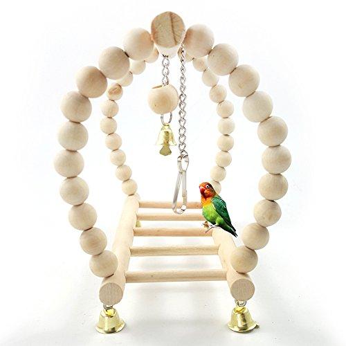 CoURTerzsl Vogelspielzeug für Papageien, Nymphensittiche, Hängebrücke, Schaukelleiter, Kletterkäfig-Spielzeug