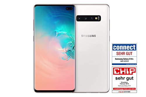 Samsung Galaxy S10+ Smartphone (16.3cm (6.4 Zoll) 512GB interner Speicher, 8GB RAM, Ceramic White) - Deutsche Version (Generalüberholt) Ceramic White
