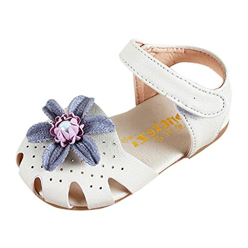 Prinzessin Schuhe MäDchen, Sandalen mit Blumen, Infant Pre Walker Schuhe, Baby-süße Elegante Perlenschuhe, Kleinkind-Sommerschuhe (Baby Walker Schmal)
